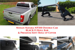 Soft Roll Up Tonneau Cover & F1 Roll bar for Nissan Navara NP300