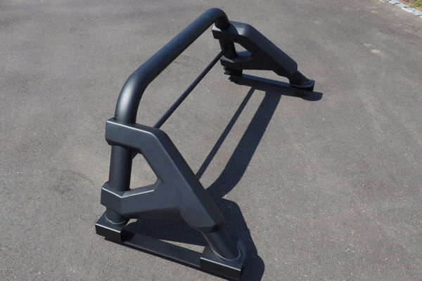 Soft Roll Up Tonneau and F1 BLACK Roll Bar for Toyota Hilux