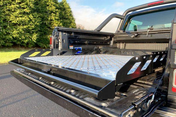 Nissan Navara NP300 Hawk Truck Bed Sliding Tray - Chequered Plate