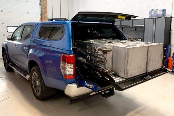 Nissan Navara NP300 Hawk Sliding Load Bed Tray Chequered Plate