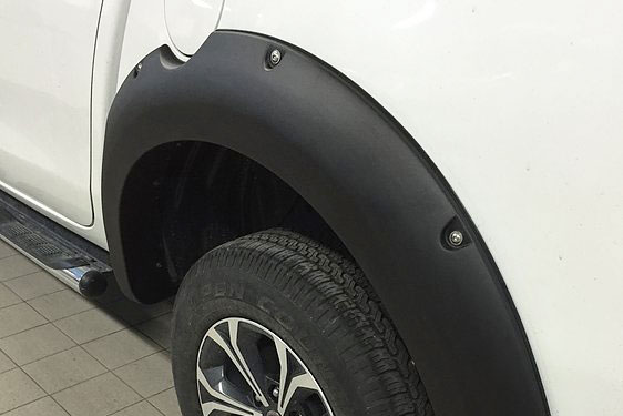 Fiat Full Back Matte Black Wheel Arch Extensions Rocky Style Wide