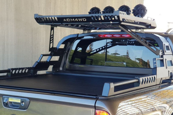 Mitsubishi L200 Series 6 Combat Style Roll Bar with Roof Basket Cargo Carrier BLACK