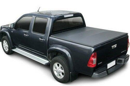 Isuzu Rodeo Black Soft Roll Up Tonneau Cover with ST Style Roll Bar Combo