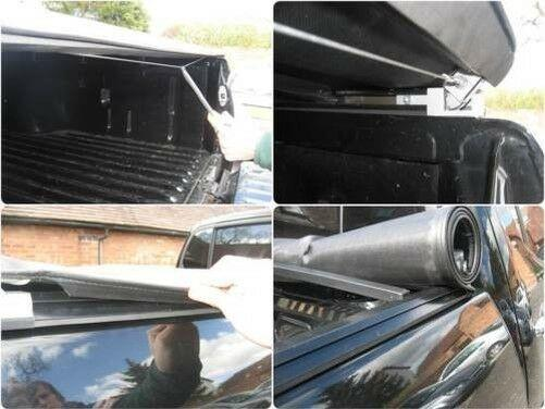 Isuzu Rodeo Soft Roll Up Tonneau Load Bed Cover with Black ST Roll Bar Combo Deal