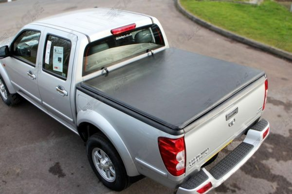 Great Wall Steed Soft Roll Up Tonneau Cover Load Bed Cover with Black ST Style Roll Bar Combo