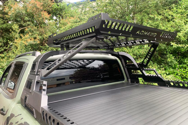 Mitsubishi L200 Long Bed Combat Roll Bar with Roof Basket Combo Cargo Carrier