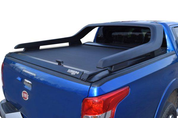 Fiat Full Back Tesser Roller Shutter Tonneau Black for Roll Bar