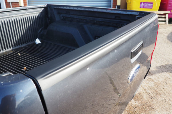 Ford Ranger T6 Top Rail Protector Large Black Smooth Tailgate Cap