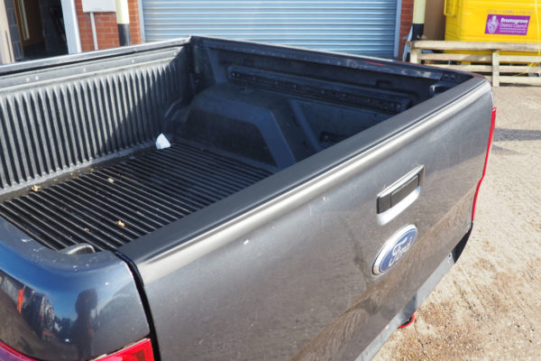 Ford Ranger T6 Large Smooth Black Tailgate Cap Top Rail Cover