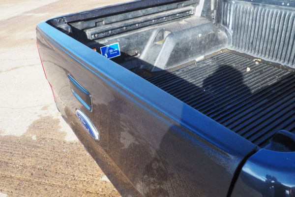 Ford Ranger T6 Large Black Textured Tailgate Cap Top Rail Protection