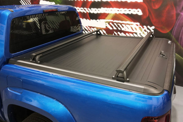 Universal Fit Black Crossbars Pickup Truck Fits with Tonneau Load Bed Covers