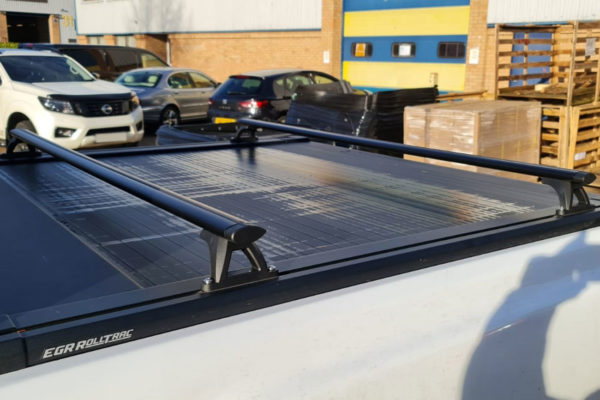 Universal Fit Black Crossbars Fits with Tonneau Covers and Roller Shutters Pickup Truck