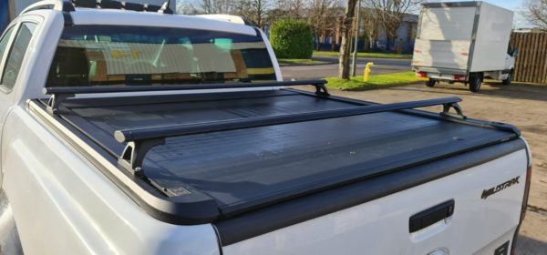 Ford Ranger Wildtrak Black Crossbars Fits with Roller Shutter Tonneau Cover
