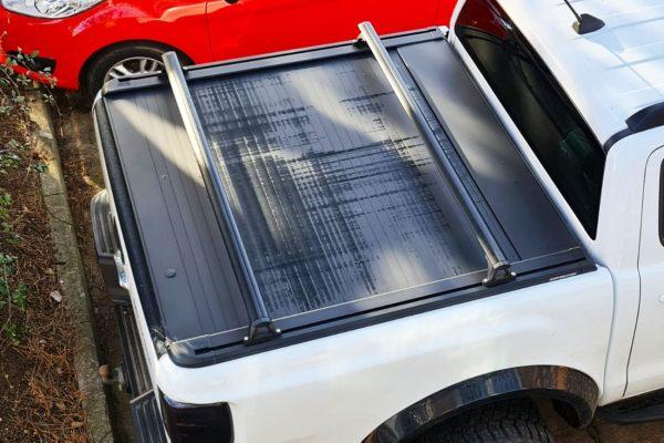 Ford Ranger Wildtrak Roller Shutter Black Cross Bars