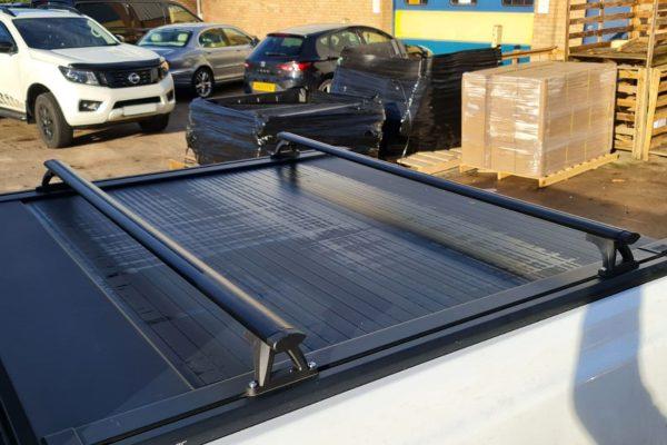 Black Cross Bars for EGR Roller Shutter Load Bed Rails