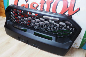 Ford Ranger T8 Wildtrak Ultimate Stealth Matte Black Grille Replacement with Coloured Inserts