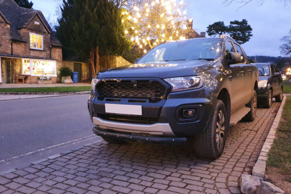 Ford Ranger T8 Wildtrak Ultimate Stealth Matte Black Grille with Coloured Inserts
