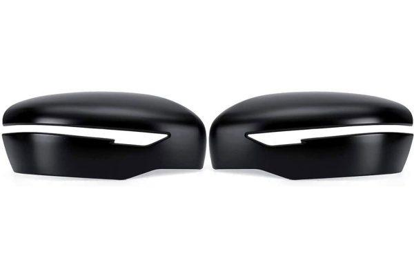 Nissan Navara NP300 Black Side Wing Mirror Covers Pair