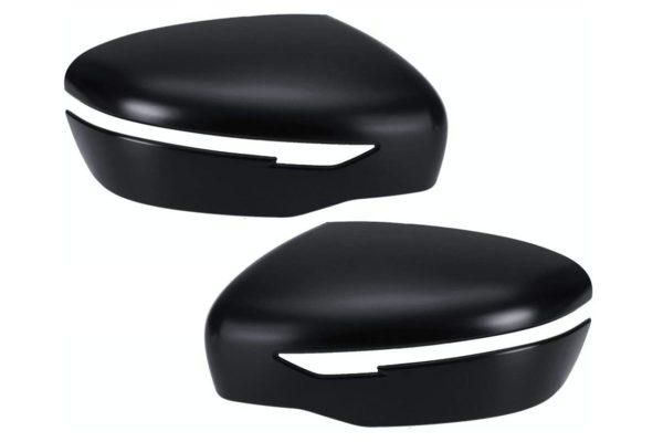 Nissan Navara NP300 Side Wing Mirror Covers Black Pair
