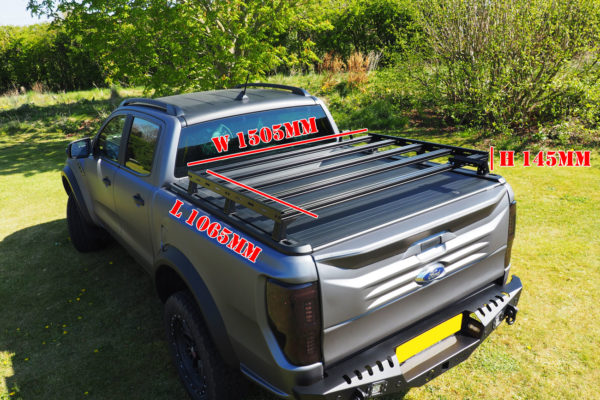 Ford Ranger Roof Rack Extra Storage Fits with Roller Shutters