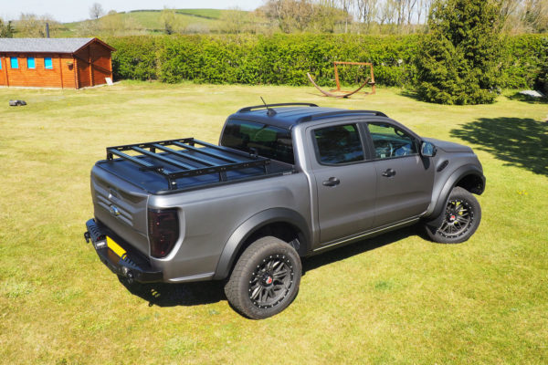 Ford Ranger Roof Rack Five Bar UK Manufactured Fits with Roller Shutter