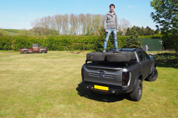 Toyota Hilux Roof Rail Bars Extra Storage for Roller Shutters