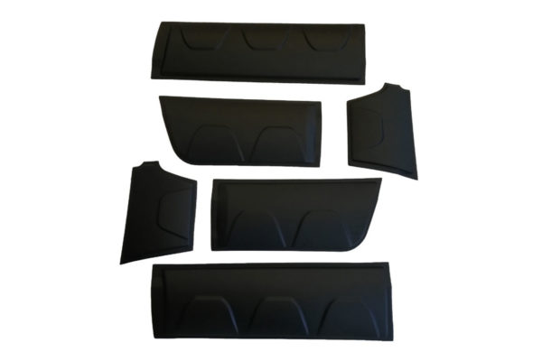 VW Amarok Body Cladding Upgrade Pack Matte Black
