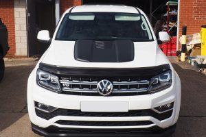 VW Amarok Black Bonnet Scoop Guard