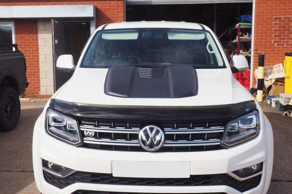 VW Amarok Large Black Bonnet Scoop Bug Shield Screen Protector