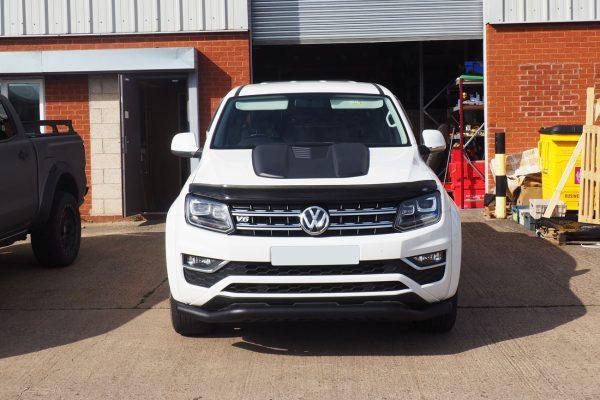VW Amarok Large Black Bonnet Scoop Guard Protector