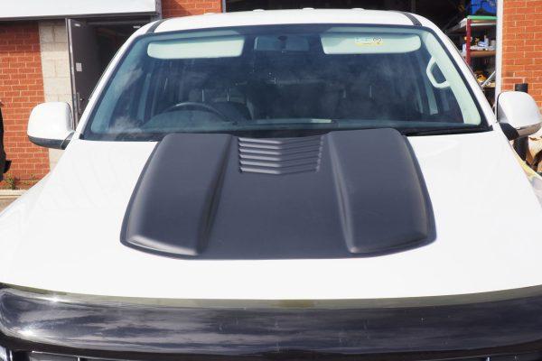VW Amarok Large Black Bonnet Scoop Guard Accessories