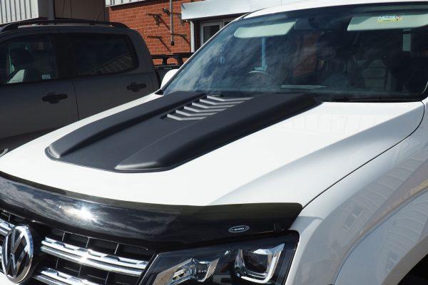 VW Amarok Black Bonnet Scoop Aggressive