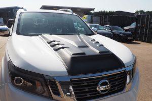 Nissan Navara NP300 Large Black Bonnet Scoop Upgrade Enhancement