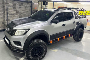 Nissan Navara NP300 Side Body Cladding Panels Black Aggressive Bulk Accessory