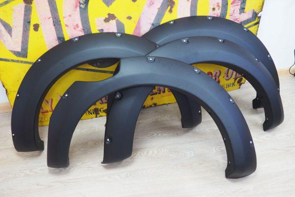 Ford Ranger Wildtrak 2019 Fender Flares Wheel Arch Extensions Black Rockty Style