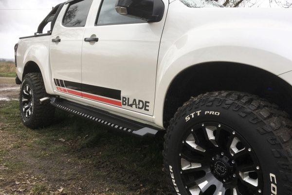Isuzu Damx 2021 Black Side Boards Bars Falcon Rugged Style