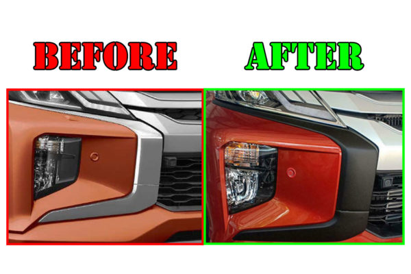 Mitsubishi L200 Series 6 Blackout Front Grille and Bumper Kit Styling Trims