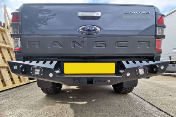 Isuzu Dmax 2021 Off Road Style Rear Bumper Replacement Upgrade Towing Impact Resistance